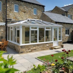 beautiful conservatory on a sunny day