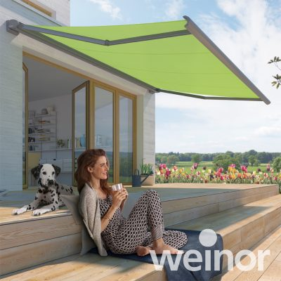 Weinor Cassita II lime green awning