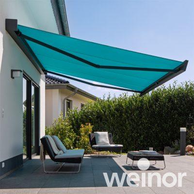 Weinor Kubata blue awning