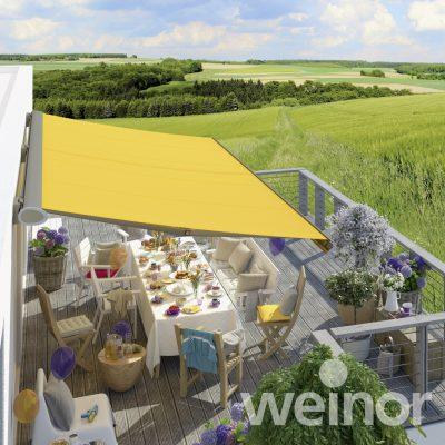 Weinor yellow Semina Life awning