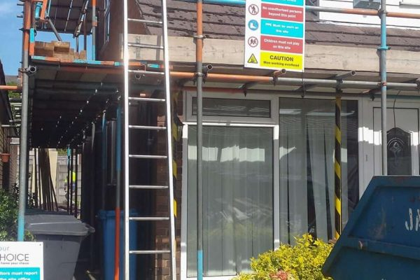 Goulden under construction